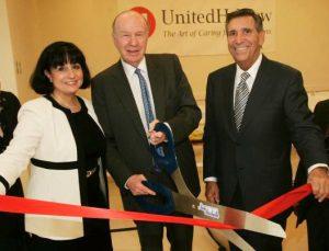 Rita C. Mabli, United Hebrew; Malcolm Lazarus and Michael Rozen, United Hebrew Board of Directors, at the 2009 grand opening of United Hebrew's new nursing home