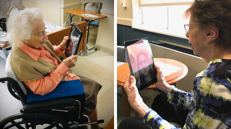 virtual visits in nursing home